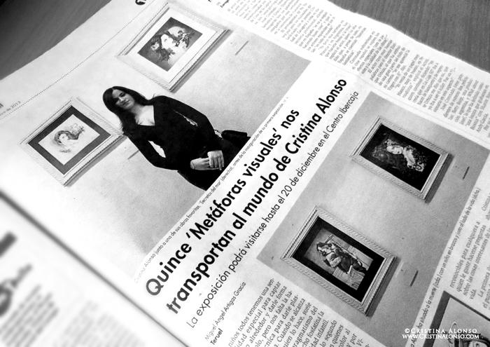Crítica de Metáforas Visuales, en el Diario de Teruel (30/11/2013)