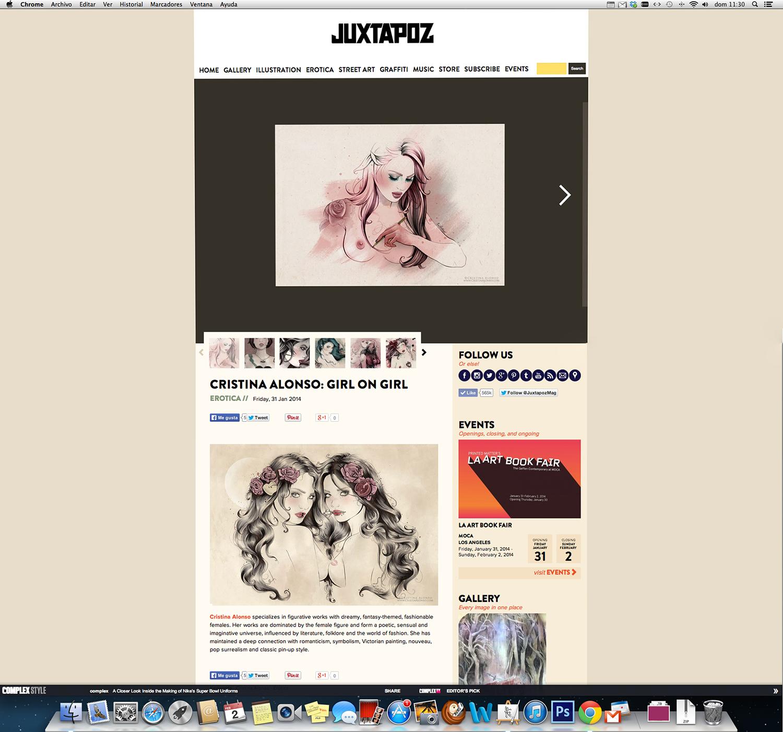 Juxtapoz Magazine Erotica.