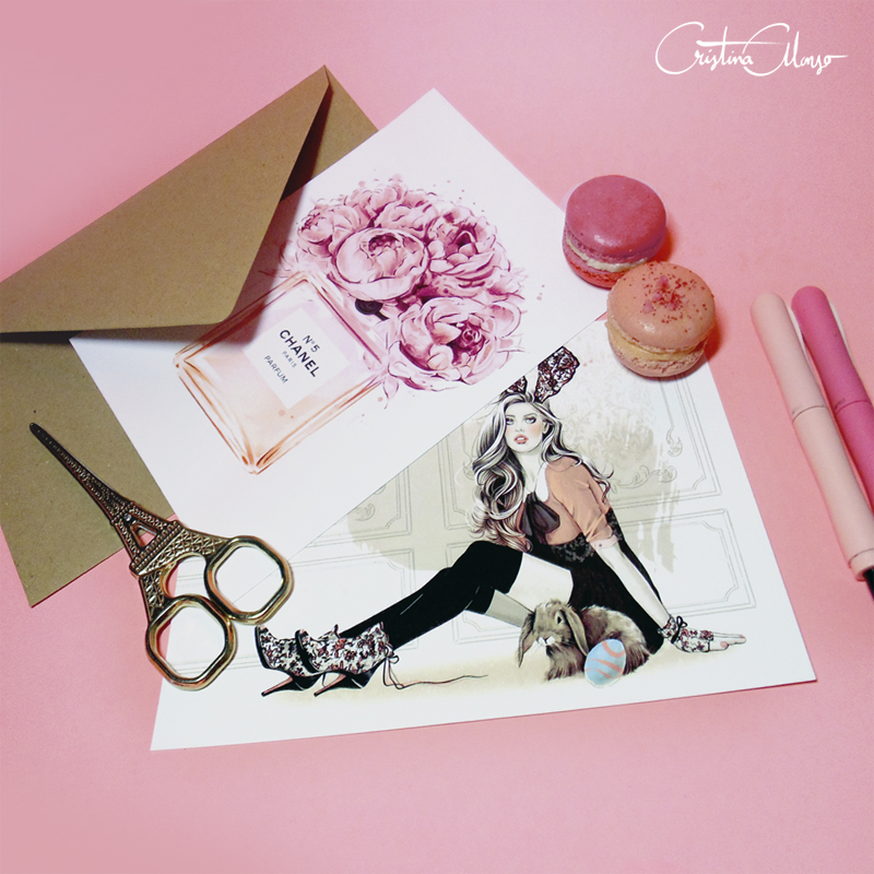 'La Vie En Rose' Mini Prints Set