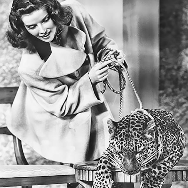 Katharine Hepburn and Baby in 'Bringing Up Baby' (1938)