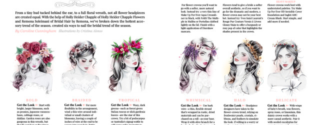 'Crowning Glory' (Wahingtonian Bride & Groom Magazine).