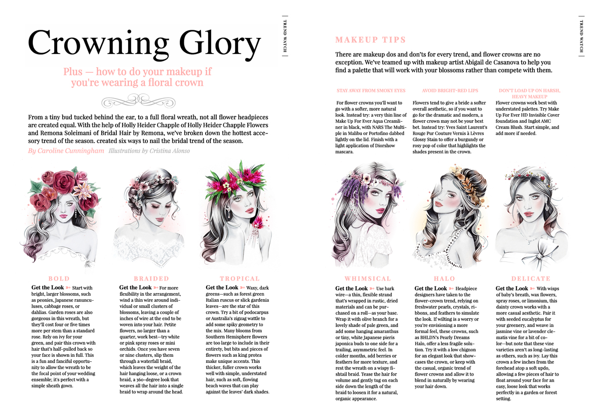 'Crowning Glory' (Wahingtonian Bride & Groom Magazine).