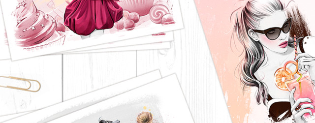'Something Sweet' Fine Art Mini Prints Set by Cristina Alonso
