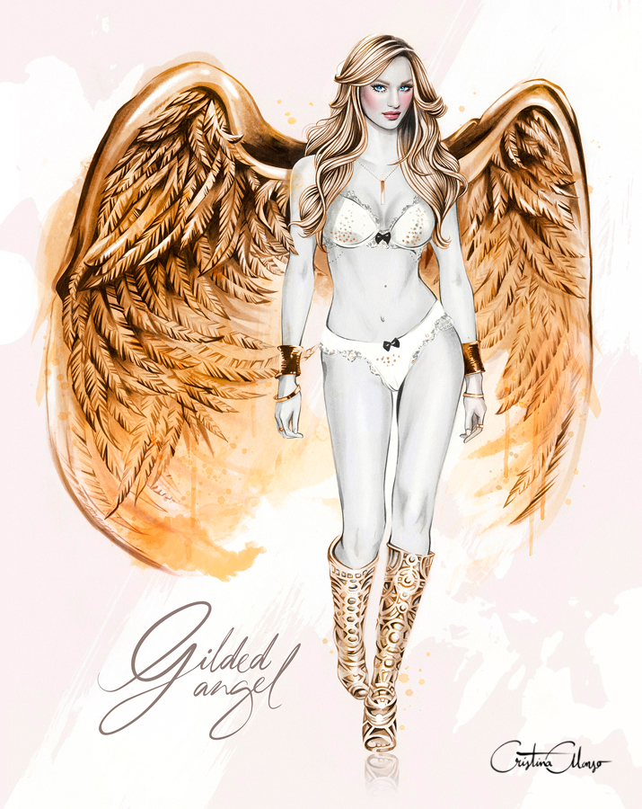 'Gilded Angel' (Inspired by the homonym look by Victoria's Secret Fashion Show '4 and angel Candice Swanepoel)
