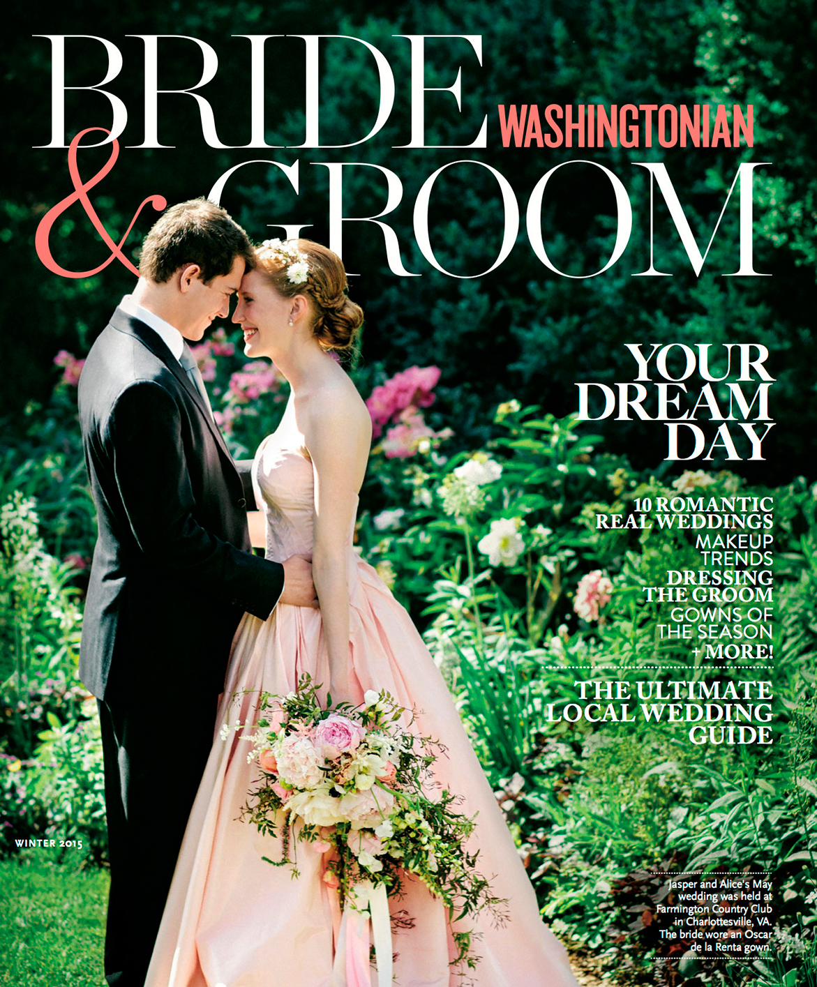 Bride & Groom Magazine (Winter 2015).