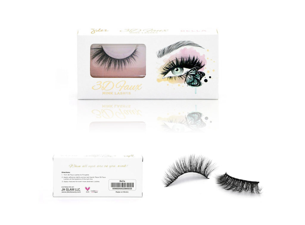 'J'dez False Lashes in Bella' illustration by Cristina Alonso